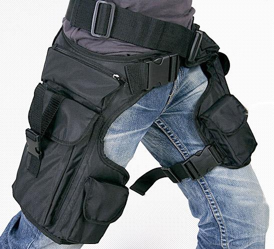 Оригинальная сумка из водонепроницаемого, прочного нейлона, надёжно крепящаяся на бедре подойдёт всем...