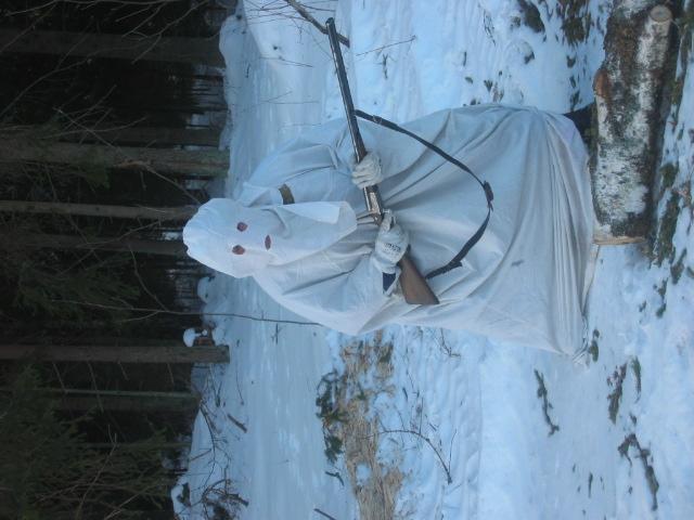 Сшить белый маскхалат для охоты своими руками
