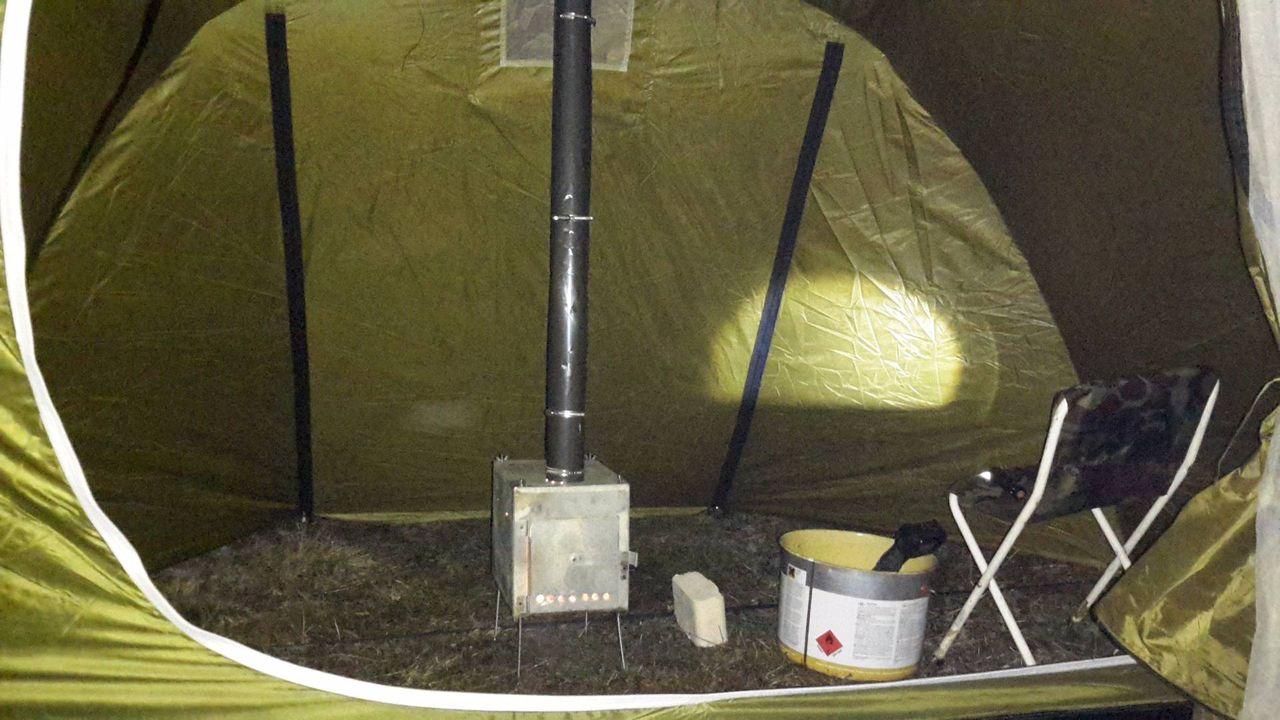 Видео печка для палатки своими руками