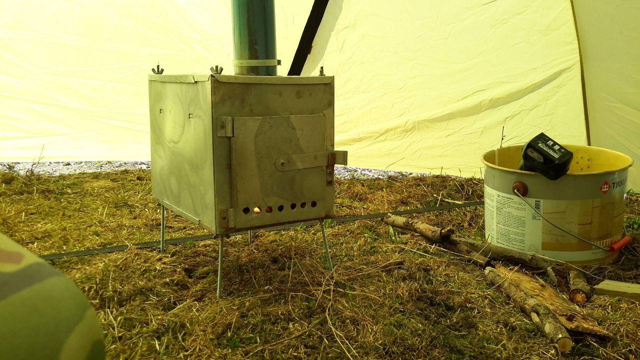 Печка для палатки 196