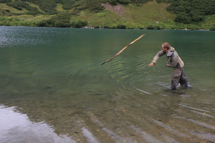 ловля рыбы для выживания