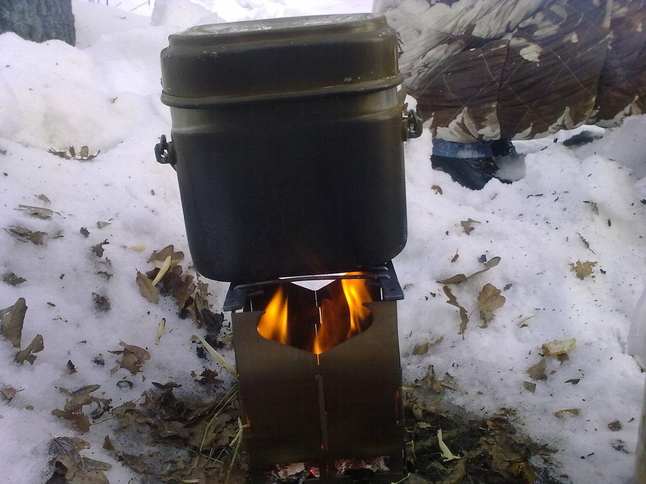Печка для котелка своими руками