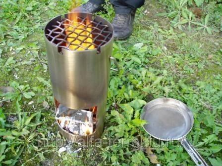 Походная печь из ведра своими руками
