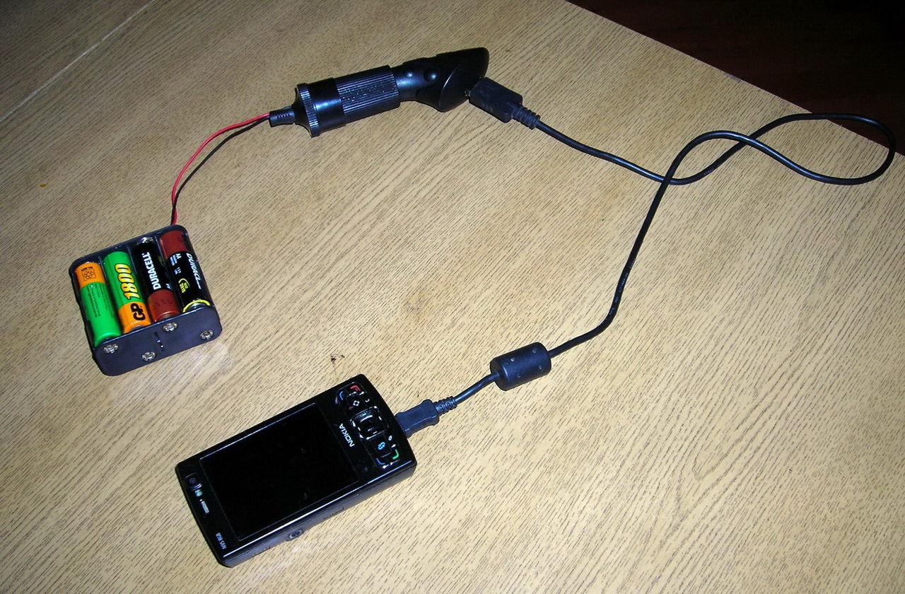 Зарядка для телефона внешняя своими руками