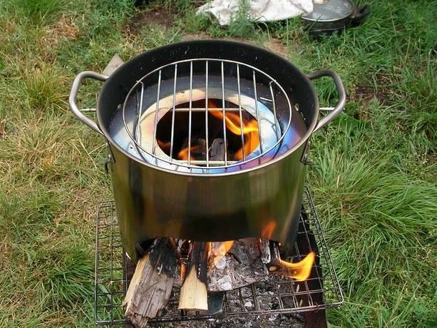 Печи для приготовления пищи на дровах своими руками из