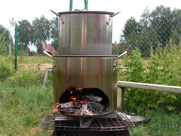 Печь для приготовления пищи на дровах своими руками 88