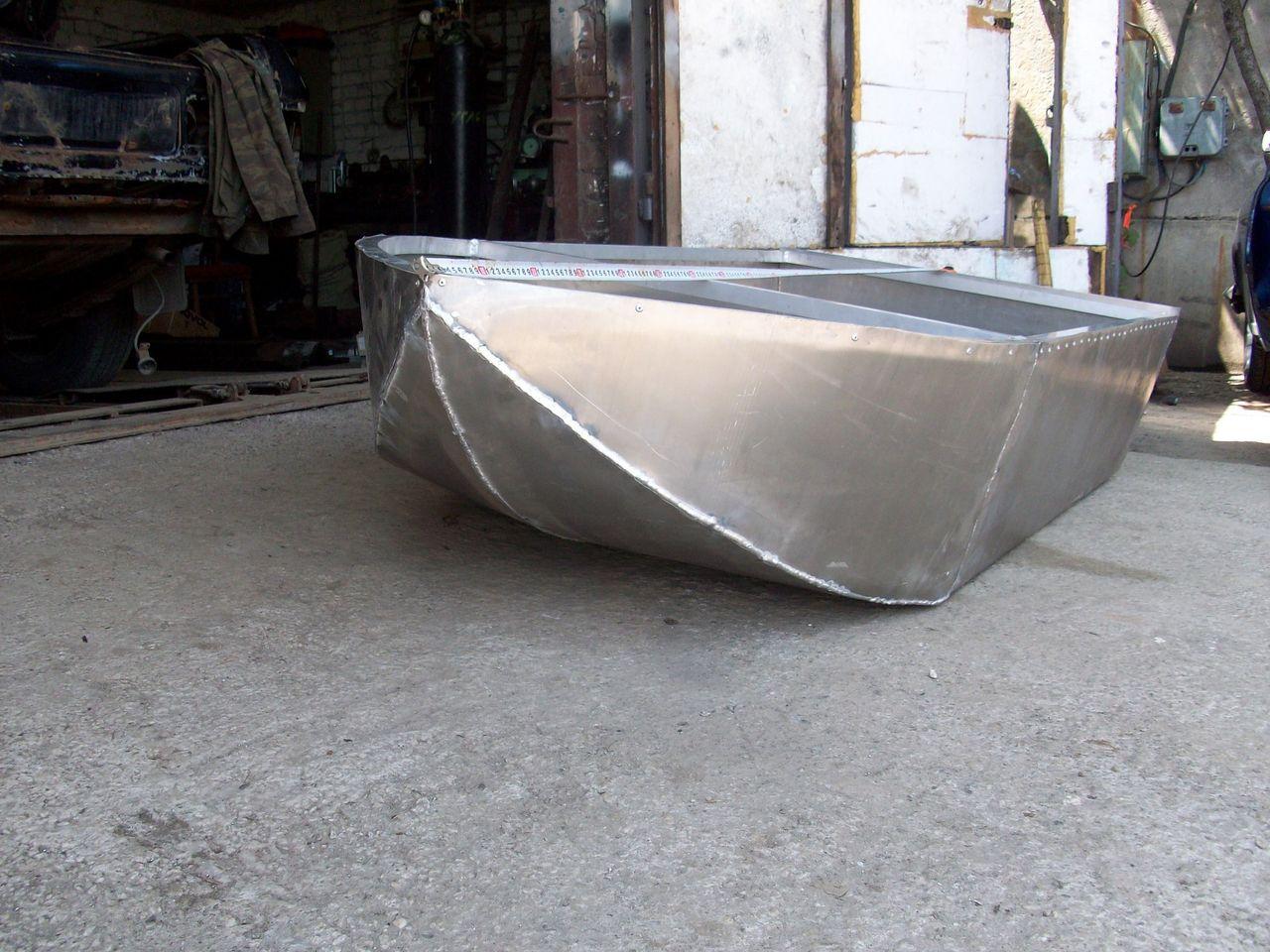 Моторная лодка своими руками из оцинковки 34