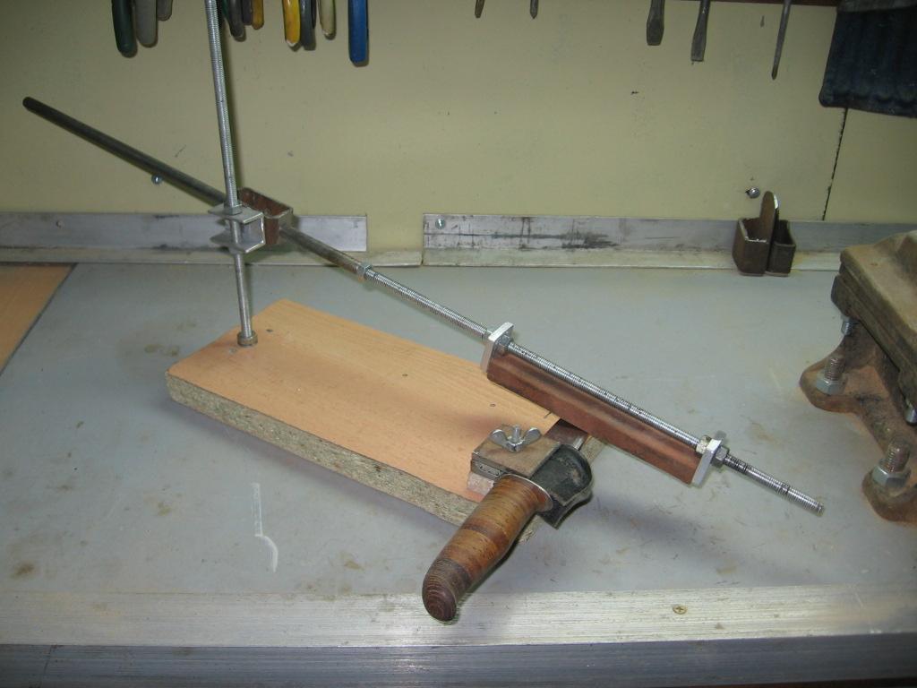 Станок для точилки ножа своими руками