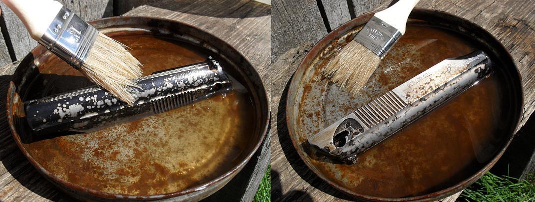 Чернением металла в домашних условиях