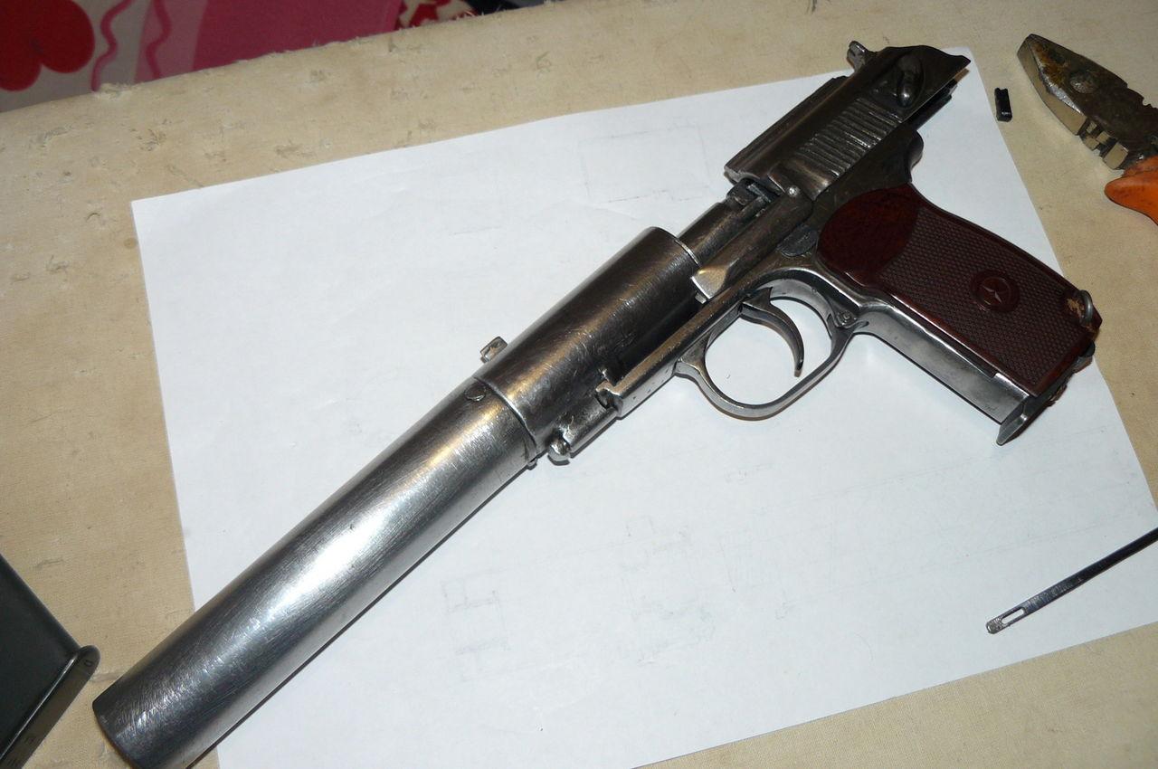 Переделка пневматического пистолета (МР-654К) в боевой 5