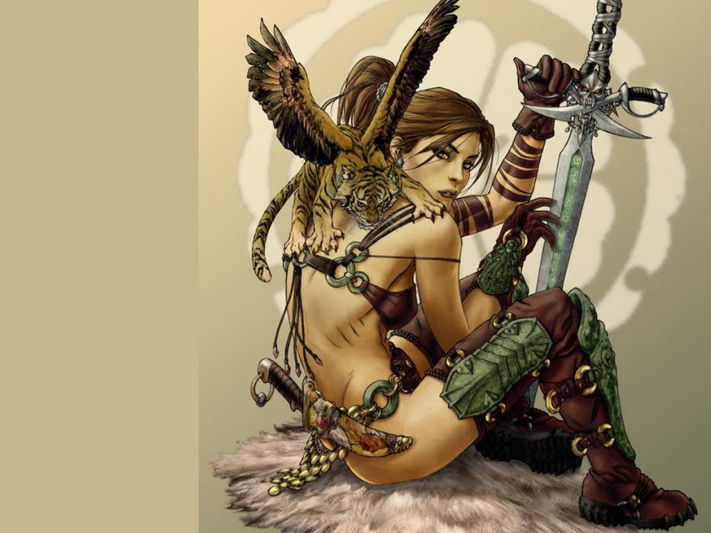 Рисованные девушки воительницы голые72
