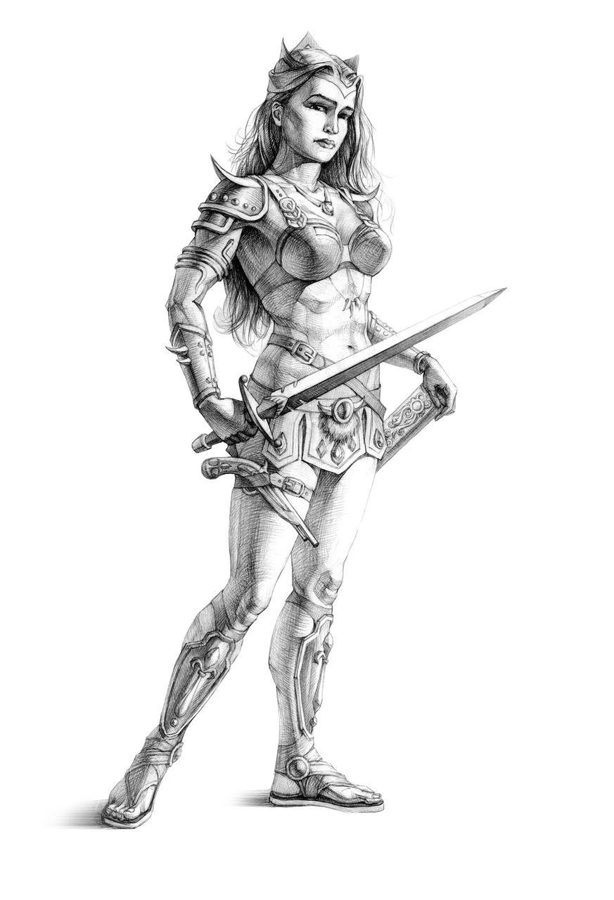 Drawing fantasy warriors nude hentai movie