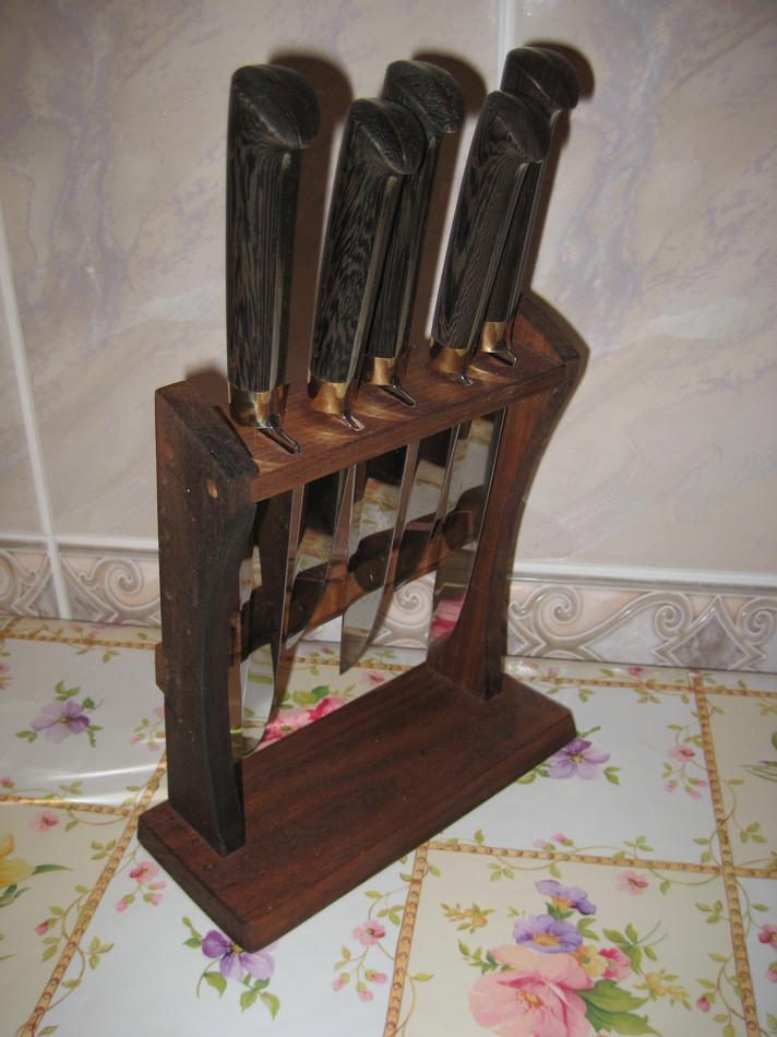 Подставка для ножей из дерева своими руками