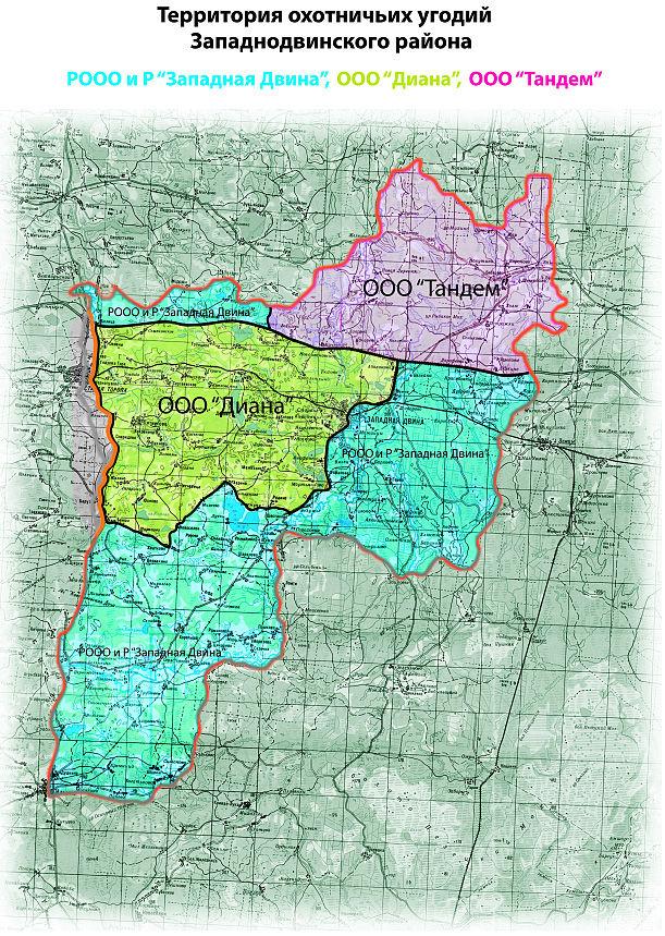 Скачать Схема охотугодий Тамбовской области
