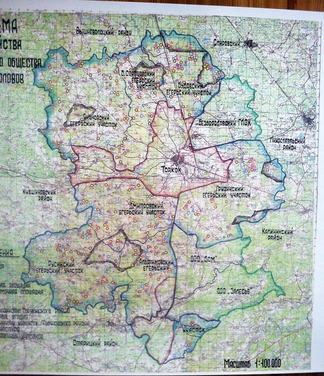Карта для охотников и рыболовов тверской области