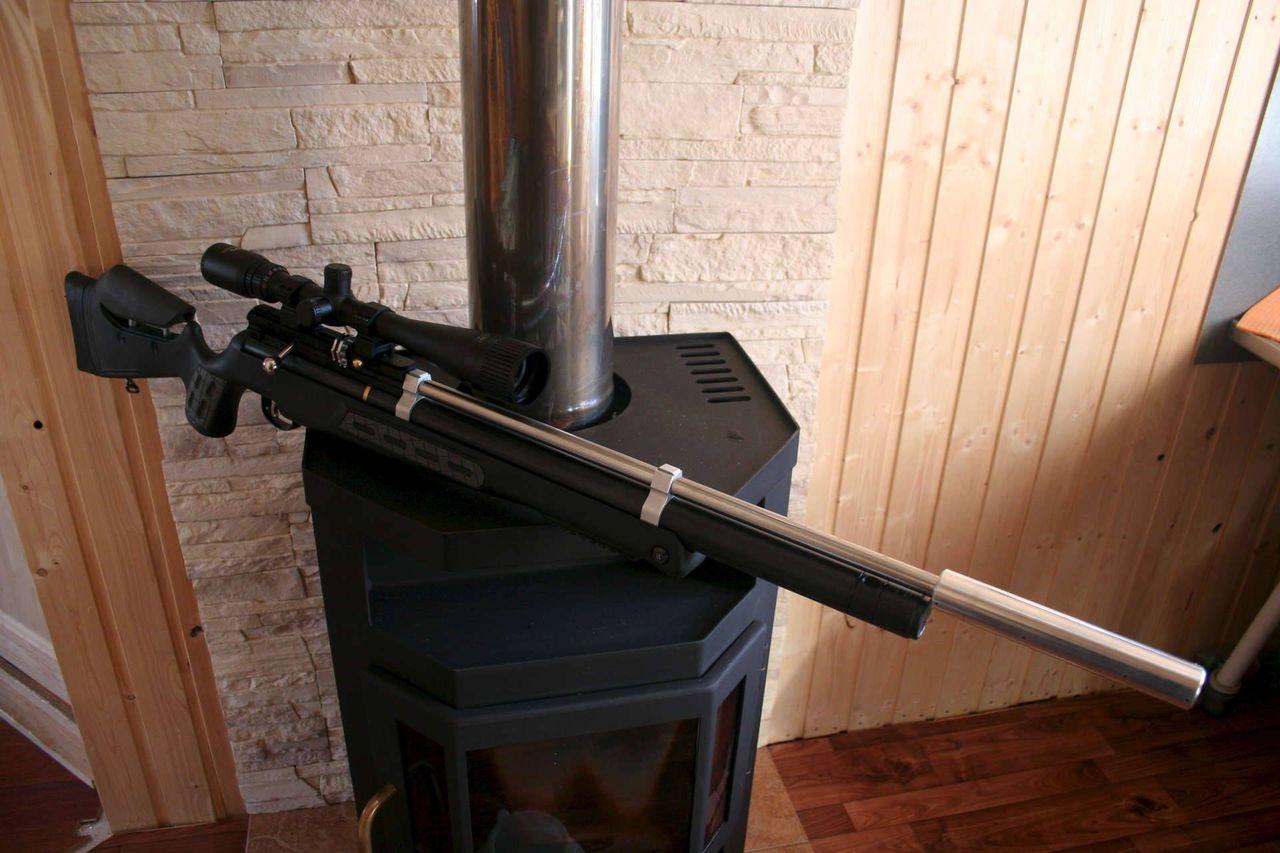 Глушитель на пневматическую винтовку своими рукам
