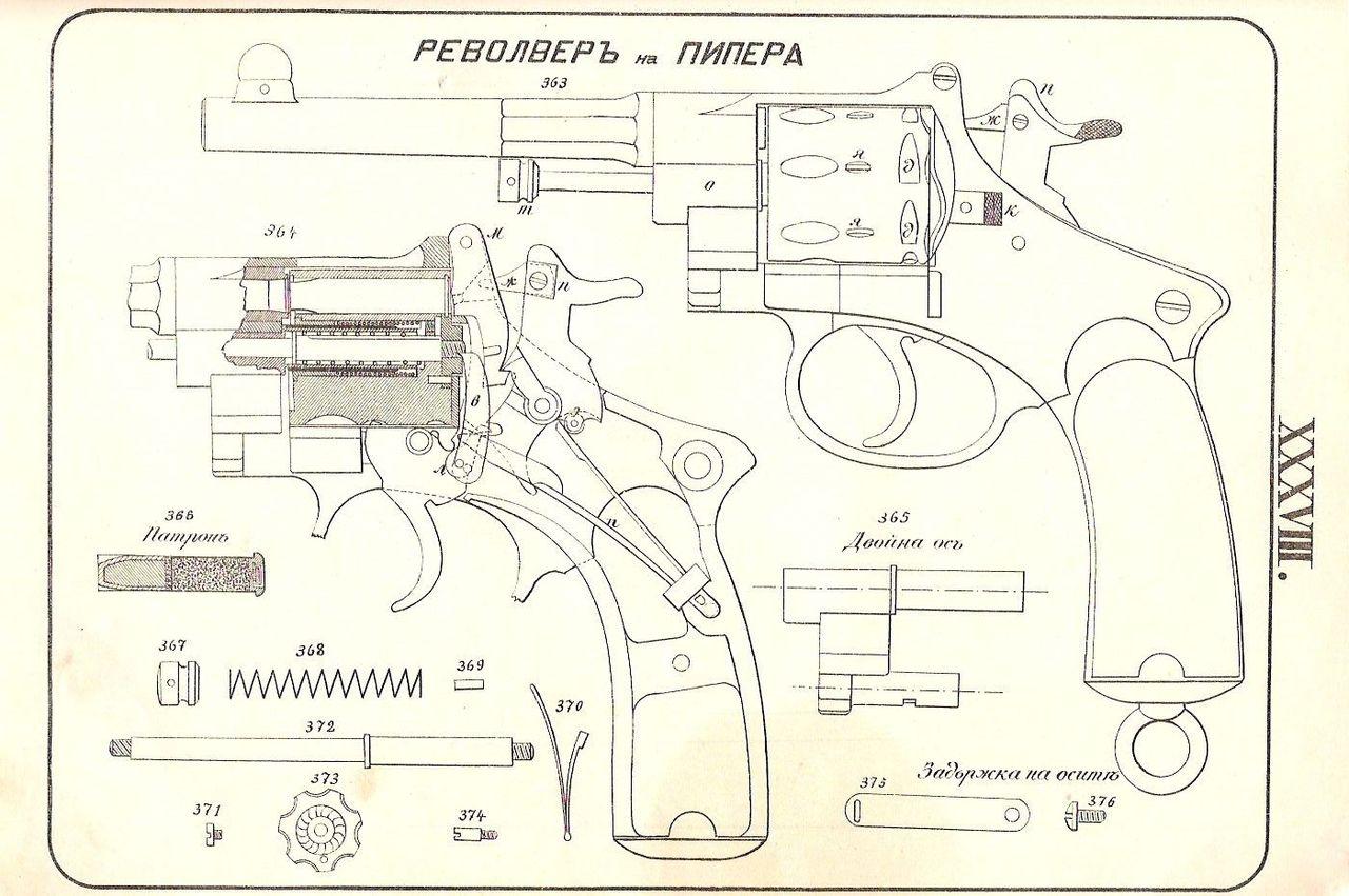 Схема револьвера своими руками