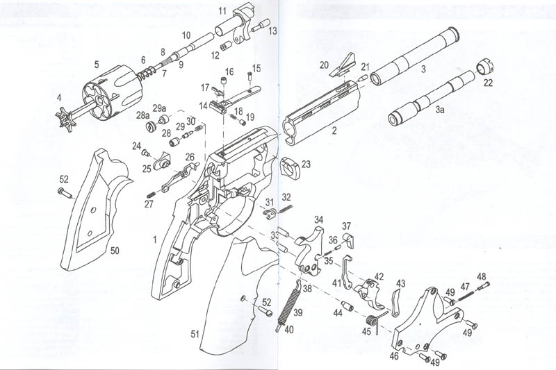 Вот схема револьвера Holek: