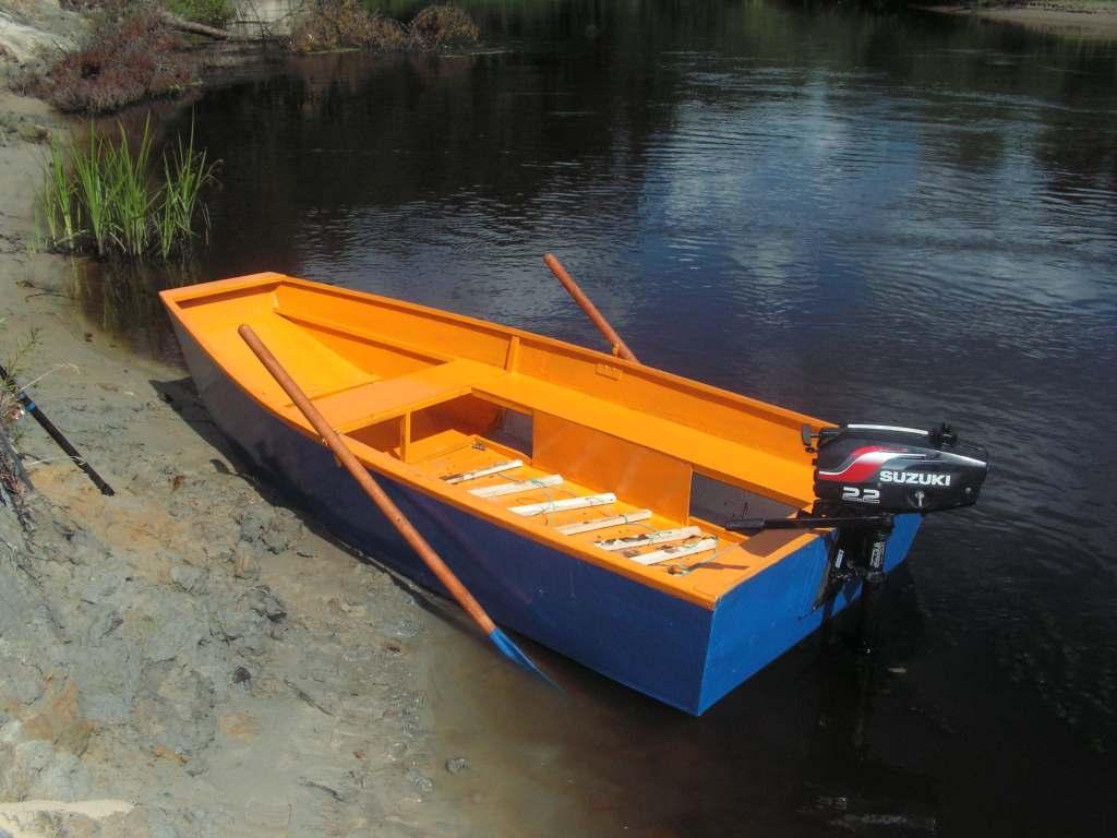 самодельная лодка из дерева под мотор