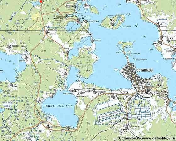 селигер рыболовные базы на карте
