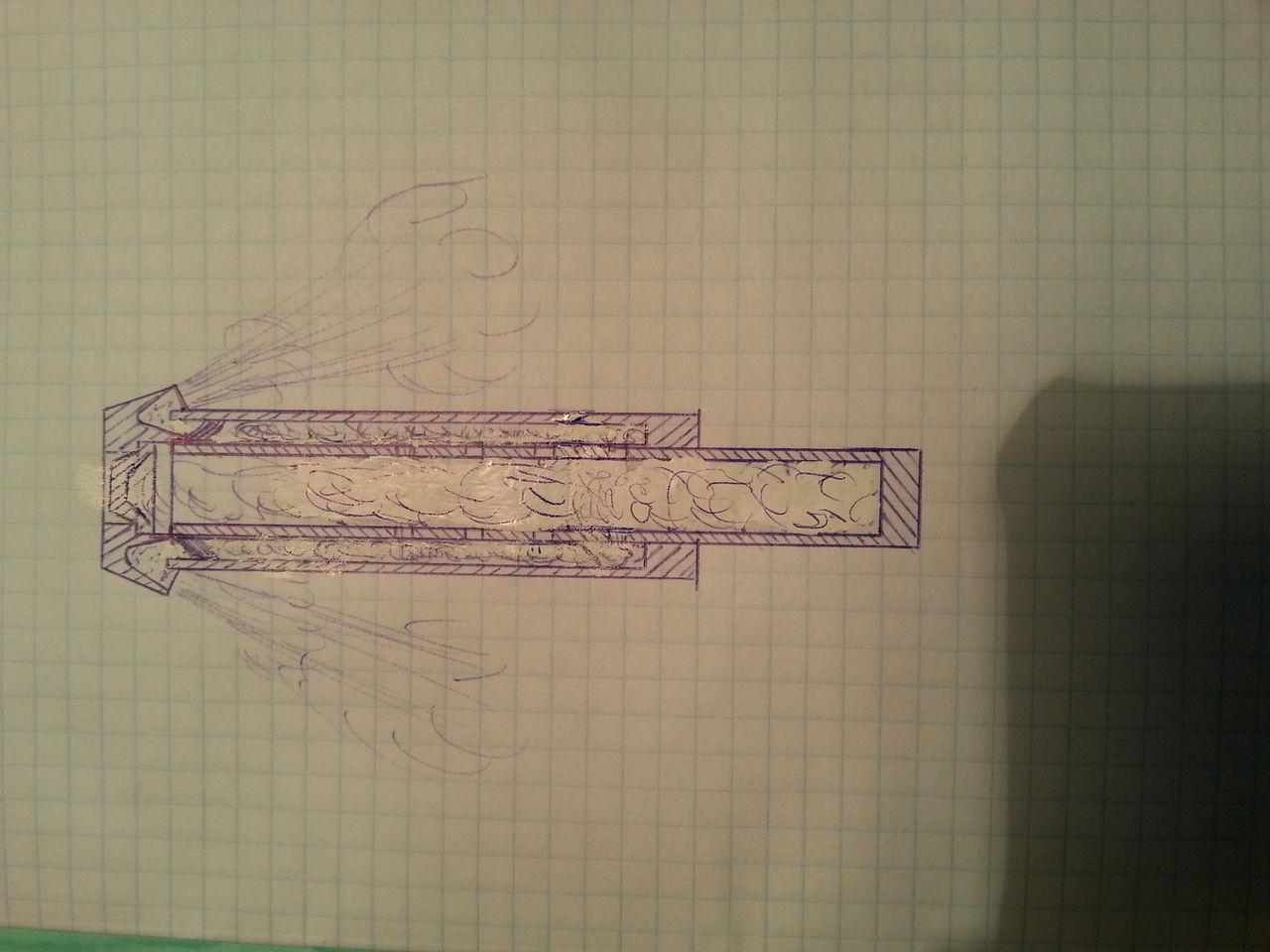 схема пневматического миномета для пейнтбола