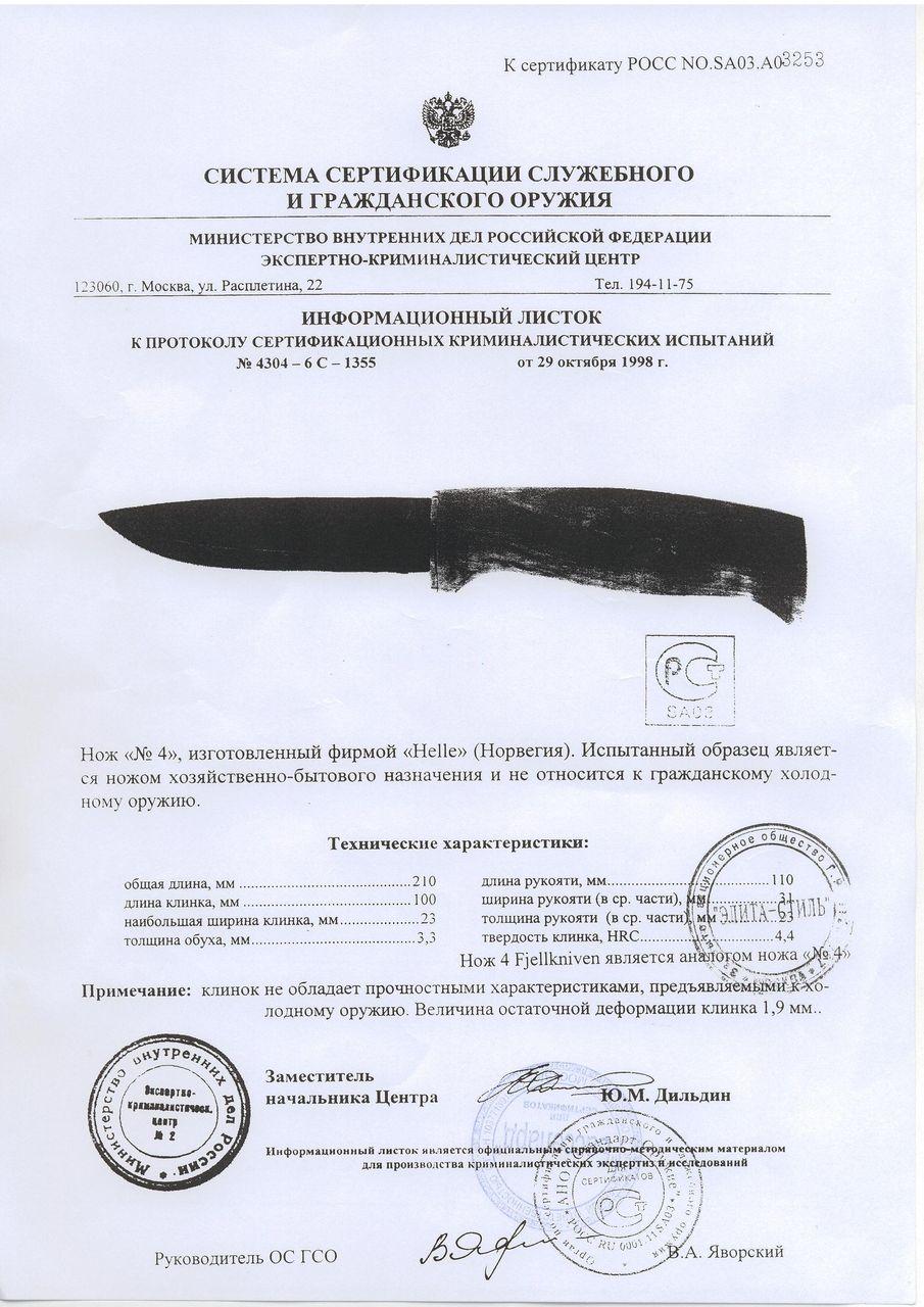 Сертификация ножей в нижнем новгороде сертификация производственных предприятий на примере