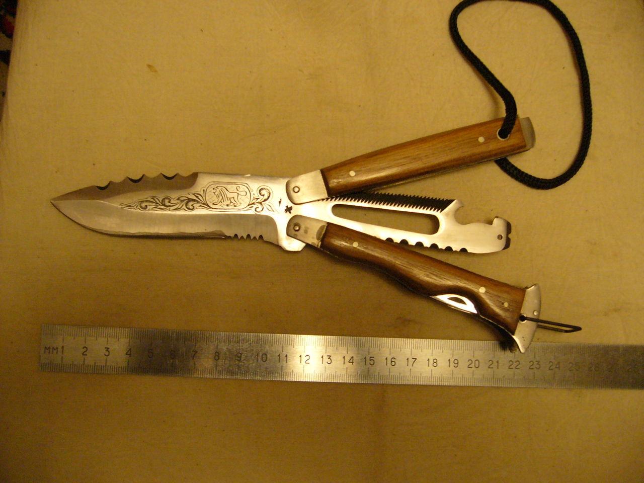 Нож оборотень от саро