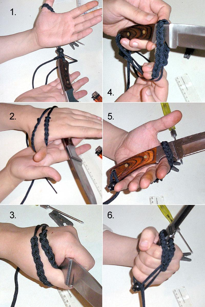Как сплести темляк для ножа из кожи своими руками 59