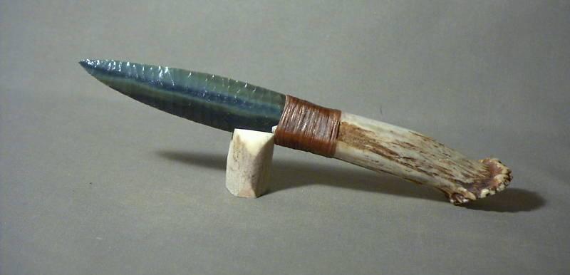 Как сделать нож из обсидиана