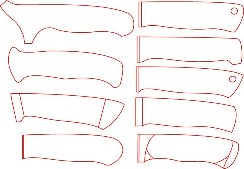 Рукоятка для ножа из дерева чертежи 12