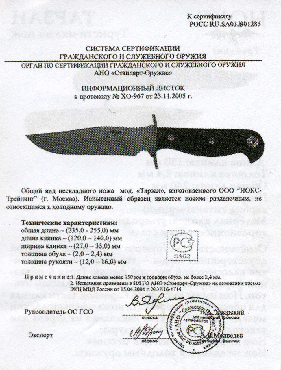 Нож таурус хо или нет