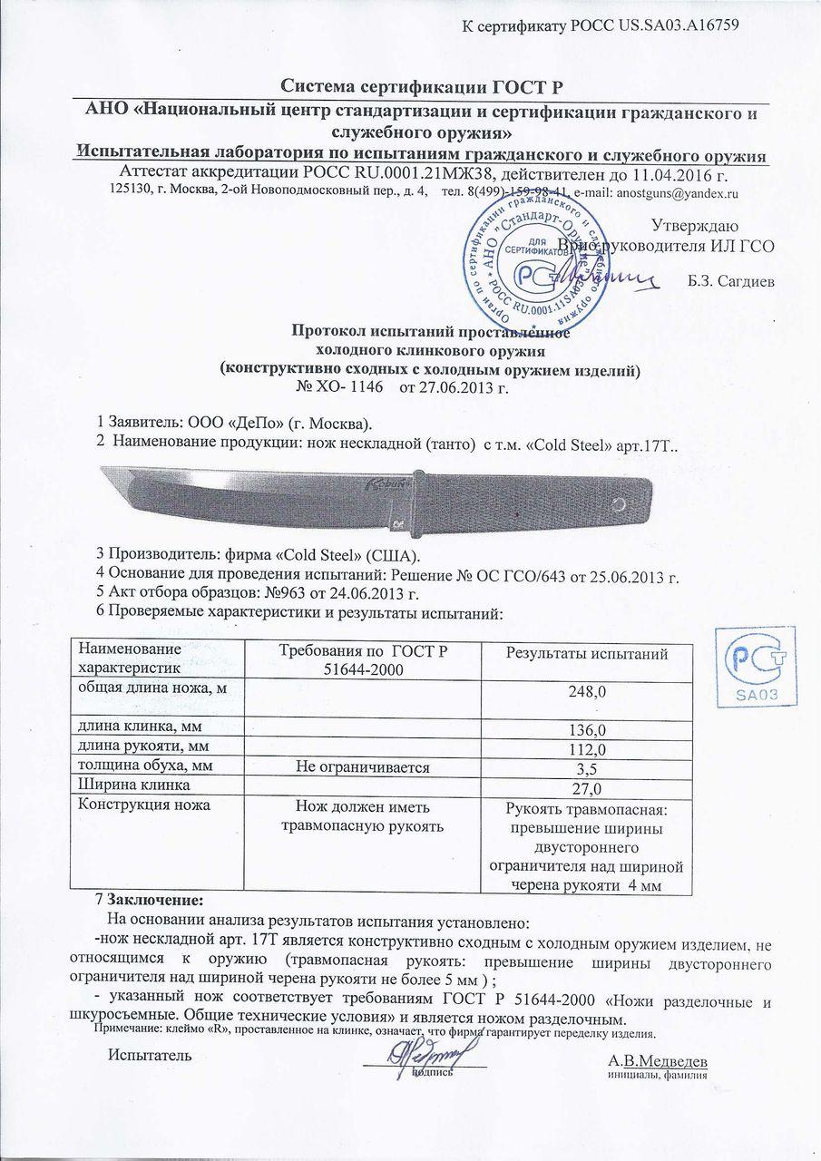 Сертификация ножей в челябинске сертификация товаров сайт госстандарта