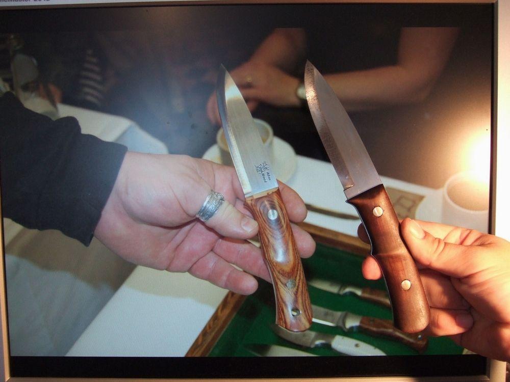 Как сделать вогнутый спуск на ноже