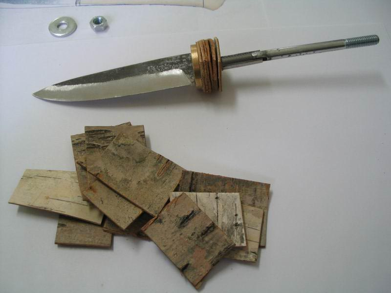 Как сделать рукоятку из бересты на нож своими руками