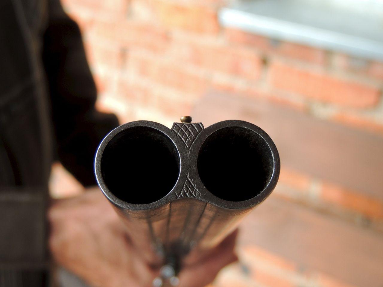 были наслышаны фото ружья двустволки вид стволов спереди дула того чтобы поместить