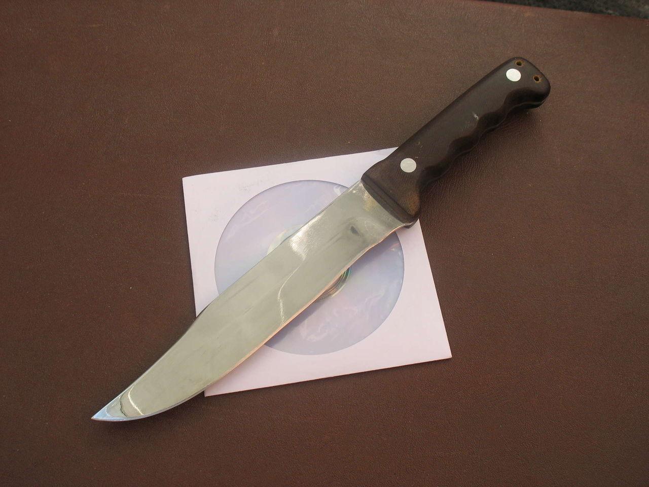 Как сделать нож из клапана фото