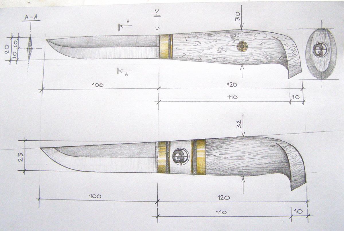 интересных рукоятки для ножей из дерева эскизы свойственно