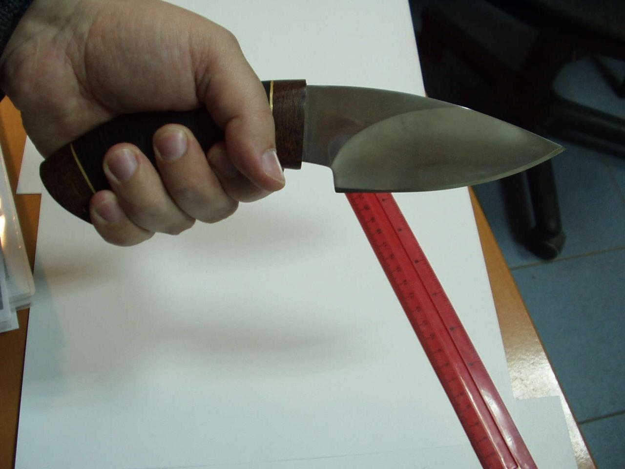 Как сделать форму ножу 127
