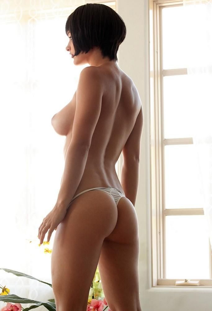 Short dark haired nudes perfect boobs — 5