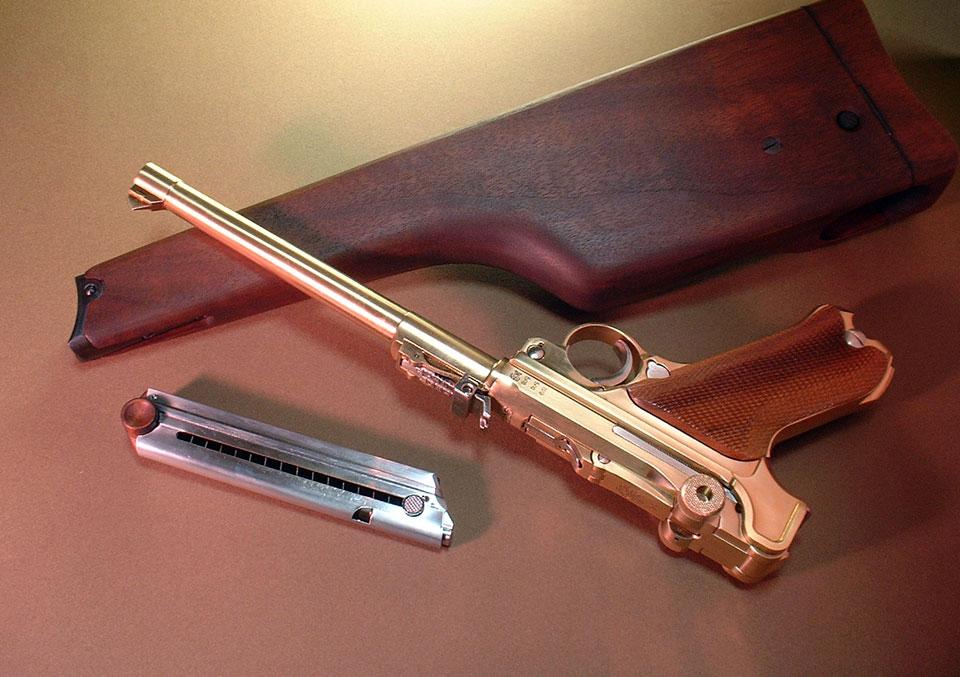 Деревянная кобура на люгер p-08 * популярное оружие.