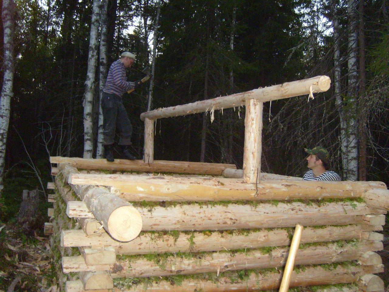 Как построить лесную избу своими руками