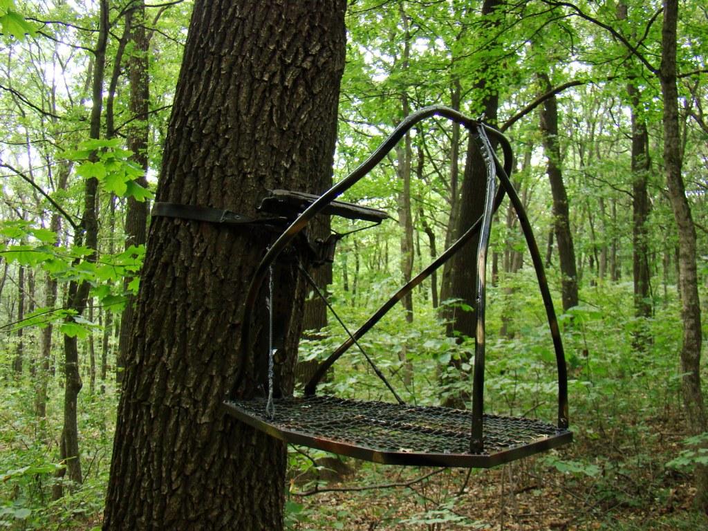 Переносная засидка на дерево своими руками 53