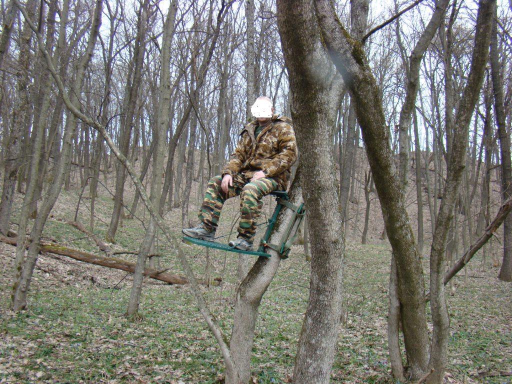 Переносная засидка на дерево своими руками 59