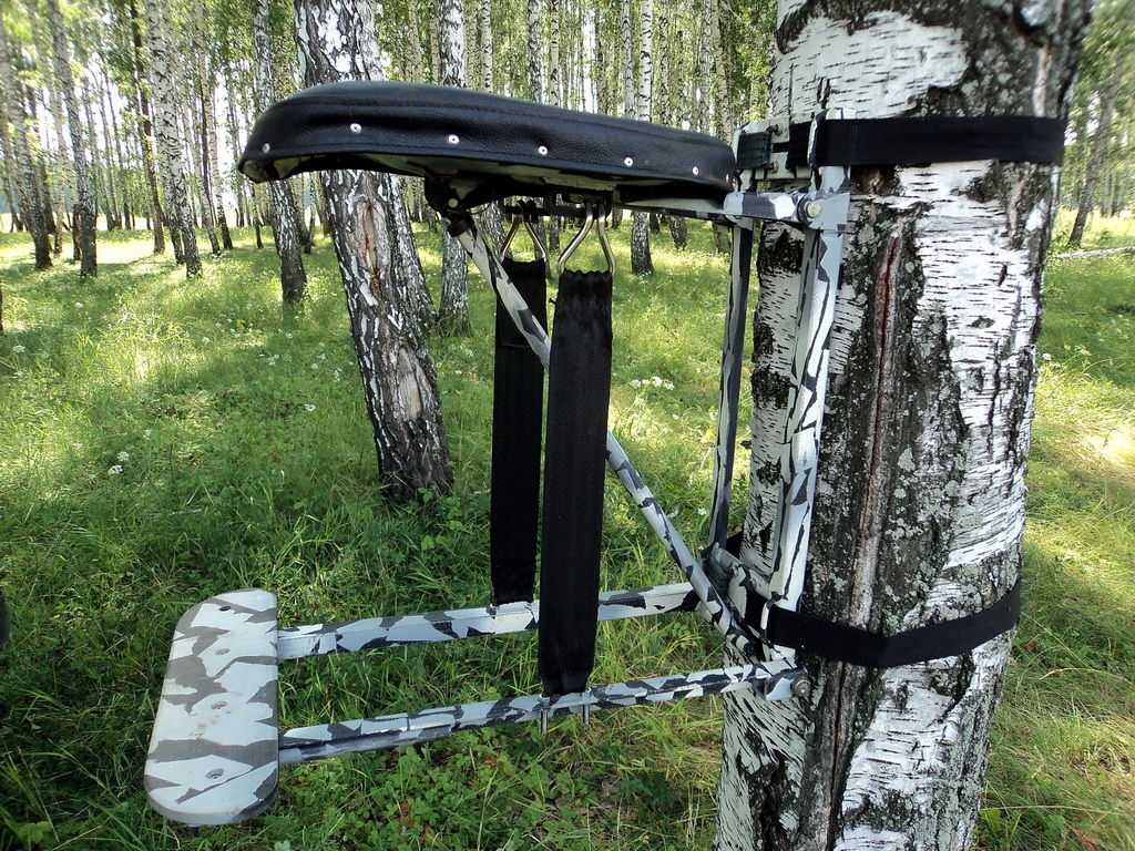 Переносная засидка на дерево своими руками 60