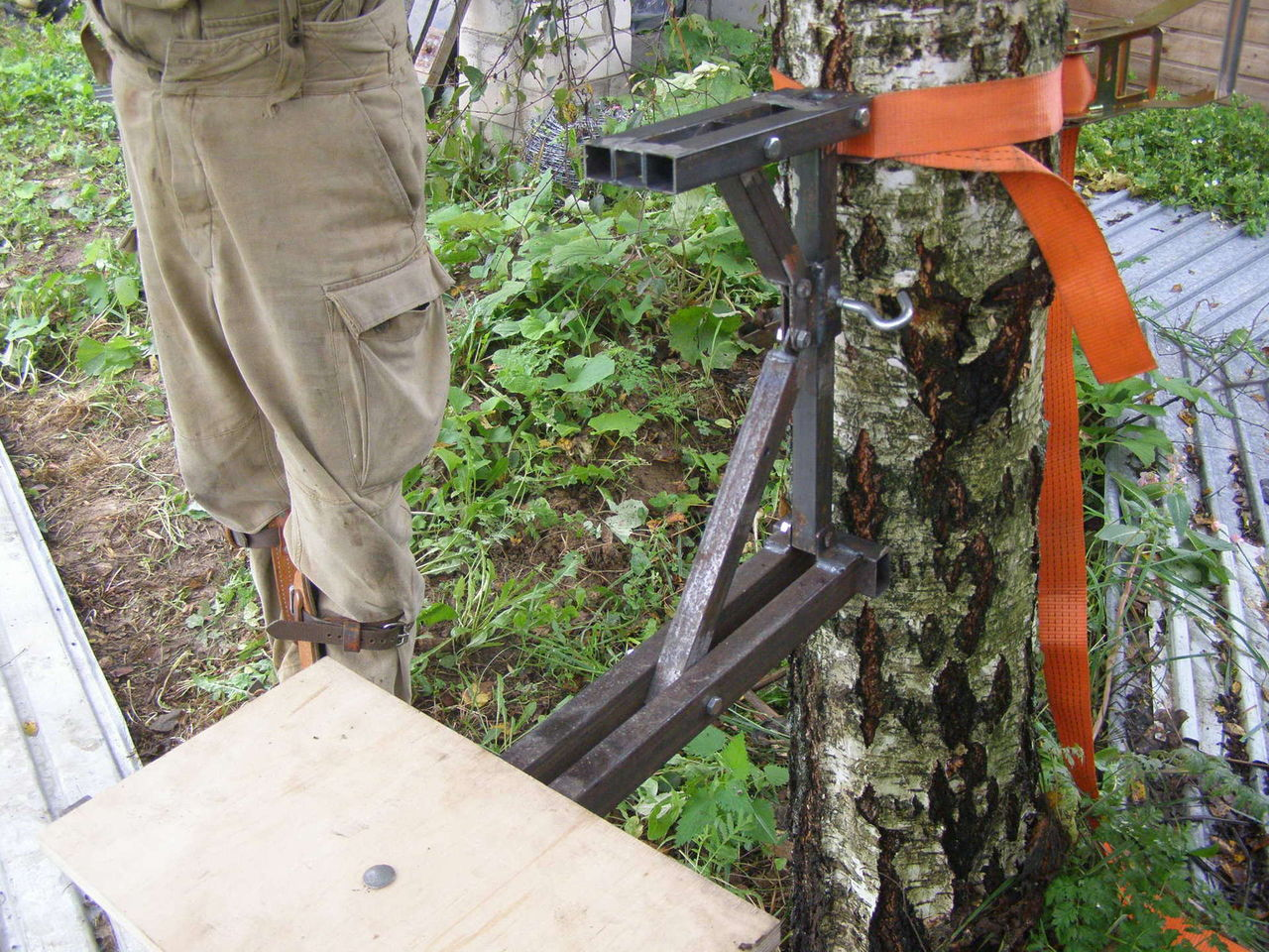 Переносная засидка на дерево своими руками 39