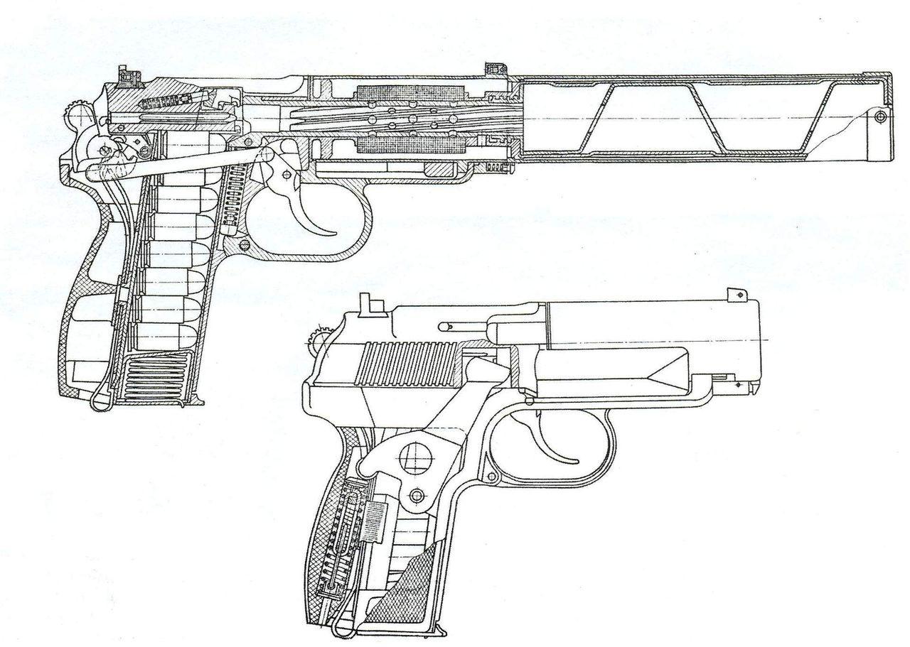 Чертеж пистолета своими руками