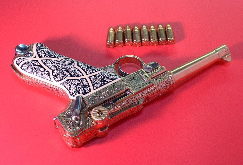 Артиллерийский luger от marushin * популярное оружие.