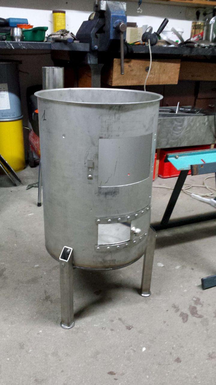 Как сделать печь из трубы под казан своими руками 32