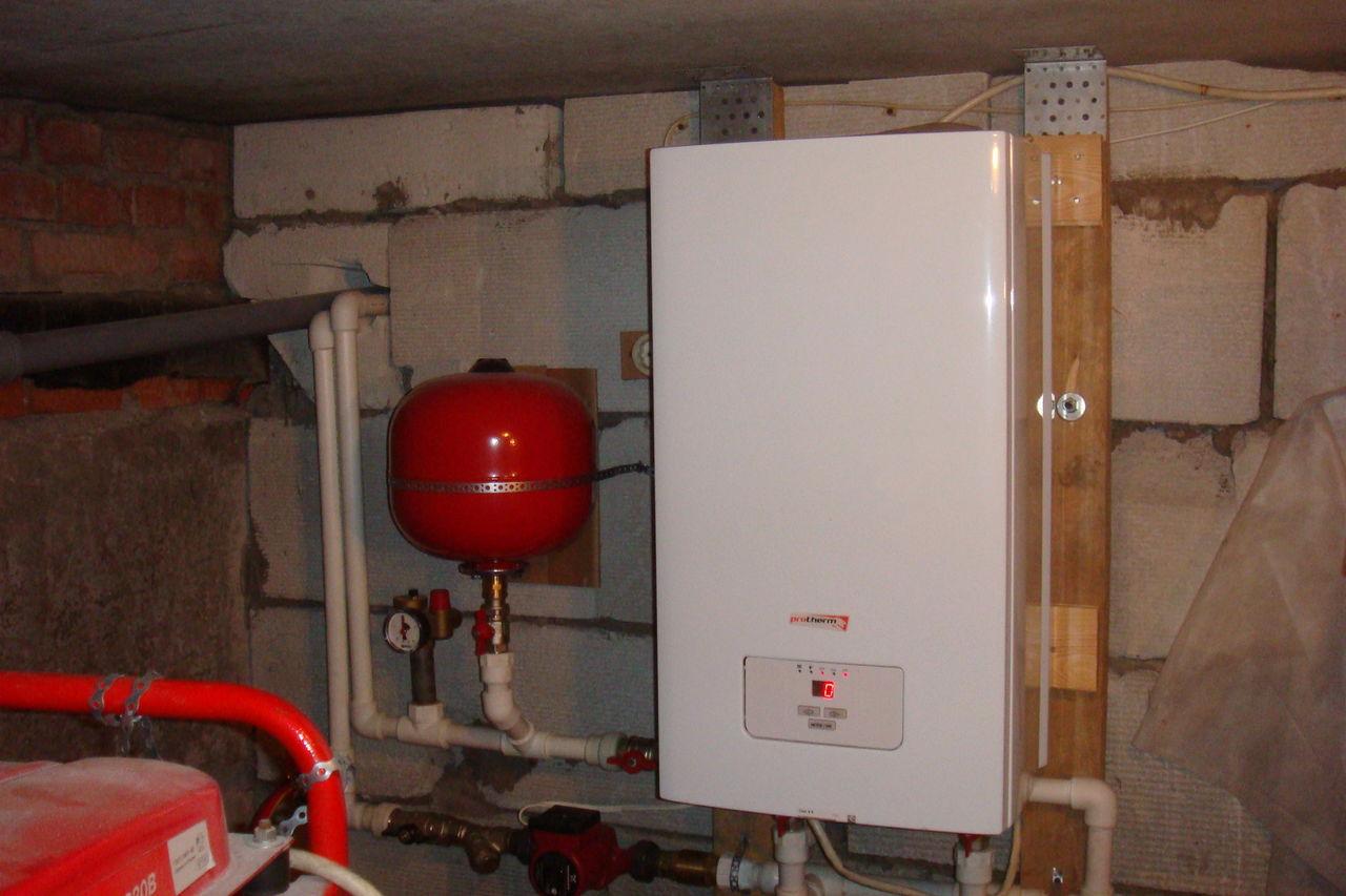 Установка настенного газового котла: монтаж 63