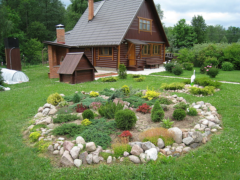 Ландшафтный дизайн на даче на 6 сотках своими руками фото